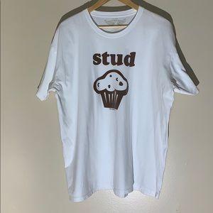 Savvy | Stud Muffin Graphic Tee T-Shirt size XXL